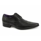 Gucinari TAMINO Mens Leather Brogue Formal Shoes Black