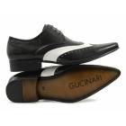 Gucinari TAMINO Mens Funky Brogue Shoes Black & White