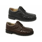 Roamers DANE Mens Lace-Up Apron Gibson Shoes Brown