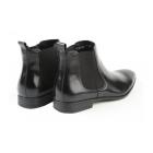 John White STERLING II Mens Leather Chelsea Boots Black