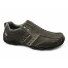 Skechers DIAMETER HEISMAN Mens Slip-On Leather Shoes Charcoal