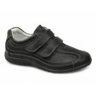 Boulevard SABRINA Ladies Extra Wide EEE Fit Velcro Shoes Black