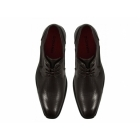 Giovanni FELIX Mens Faux Leather Lace-Up Perforated Shoes Dark Brown