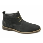 Front ROSCOE Mens Suede Leather Desert Boots Grey