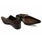 Gucinari SEBASTIAN Mens Metal Toe Cap Cuban Heel Shoes Brown