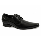 Shuperb CHICO Mens Patent Leather Winklepicker Shoes Black