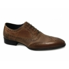 Gucinari PARMA Mens Leather Brogue Shoes Tan/Camel
