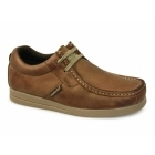 Base London STORM Mens Leather Moccasin Casual Shoes Tan