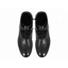 Selected RICH LEATHER NOOS Mens Lace-Up Boots Black