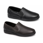 Sleepers HADLEY Mens Leather Full Slippers Black