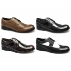 Ikon YORKE Mens Leather Brogue Shoes Black
