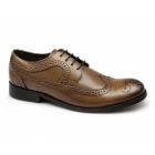 Ikon YORKE Mens Leather Brogue Shoes Tan