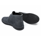 Lucini LENNY Mens Suede Leather Desert Boots Teal Grey