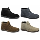 Lucini LENNY Mens Suede Leather Desert Boots Black