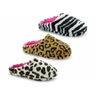 Cara Mia HELINA Ladies Faux Fur Mule Slippers Cheetah