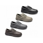 Dr Keller BRIAN Mens Leather Lace Up Wide Fit Shoes Taupe