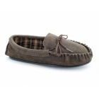 Mokkers ALWIN Mens Suede Moccasin Slippers Brown