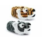 Shuperb TIGER Mens Novelty Animal Slippers Tan/Black
