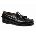 Shuperb CALABRIA Mens Leather Moccasin Tassel Loafers Black