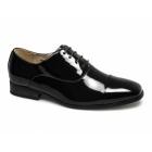 Goor DESMOND Mens Patent Square Toe Cap Dress Shoes Black