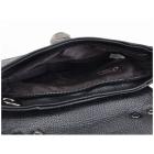 Faye London Ladies Buckle Twist Lock Shoulder Satchel Mini Bag Black