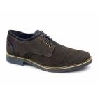 Lucini SKYLER Mens Suede Desert Shoes Brown