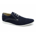 Lucini TRENTON Mens Suede Leather Desert Shoes Blue