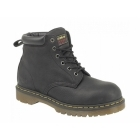 Dr Martens FORGE ST Mens Greasy Leather Industrial Safety Boots Black