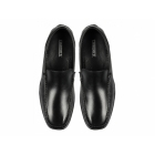 Roamers AUBREY Mens Leather Moccasin Driving Loafers Black