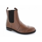 Grafters Mens Plain Goodyear Welted Sole Brogue Dealer Boots Tan