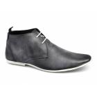 Gucinari SAMUEL Mens 2 Eye Leather Desert Boots Black
