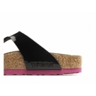 Birkenstock GIZEH Ladies Toe Post Sandals Patent Black/Pink