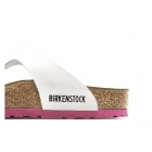 Birkenstock GIZEH Ladies Toe Post Sandals Patent White/Pink