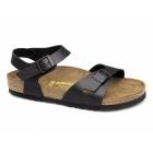 Birkenstock RIO Ladies Buckle Flat Sandals Black
