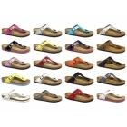 Birkenstock GIZEH Ladies Toe Post Sandals Patent Blue