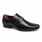 Red Tape LUTHER Mens Leather Buckle Strap Shoes Black