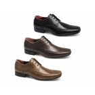 Red Tape SANDBACH Mens Leather Chisel Toe Shoes Tan