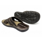 Red Tape LEW Mens Leather Padded Mule Sandals Brown