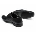 Red Tape MEDEN Mens Leather Chisel Toe Shoes Black