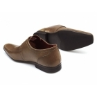 Red Tape MERSEY 2 Mens Leather Chisel Toe Buckle Shoes Tan