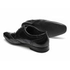 Ikon STATHAM Mens Leather Lace Up Brogue Shoes Hi Shine Black