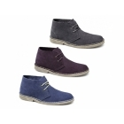 Roamers ALISTAIR Mens Suede Leather Desert Boots Blue Jeans
