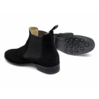 Lucini HOWARD Mens Suede Chelsea Boots Black