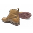 Lucini JARROD Mens Leather Wide Lace-Up Derby Boots Tan
