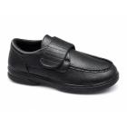 Dr Keller TONY Mens Touch Fasten Comfort Wide Fit Shoes Black