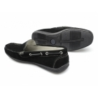 Henry James Shoes RAPID Mens Suede Moccasin Driving Loafers Black