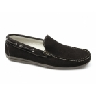 Henry James Shoes RAPID Mens Suede Moccasin Driving Loafers Brown