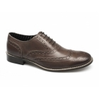 London Brogues GATSBY Mens Leather Brogue Shoes Brown