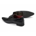 Rossellini FELINI Z1 Mens Faux Snakeskin Pointed Brogue Shoes Black