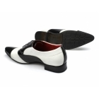 Rossellini MARCO Mens Patent Two Tone Shoes Black/White